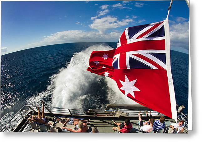 Back From The Great Barrier Reef With A Fisheye Greeting Card by Mr Bennett Kent