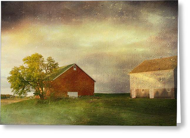 Back Home Again In Indiana Greeting Card by Regina  Williams