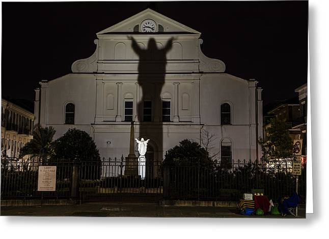 Back Of St Louis Cathedral In New Orleans Greeting Card