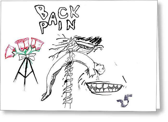 Back Pain Greeting Card by James Goodman