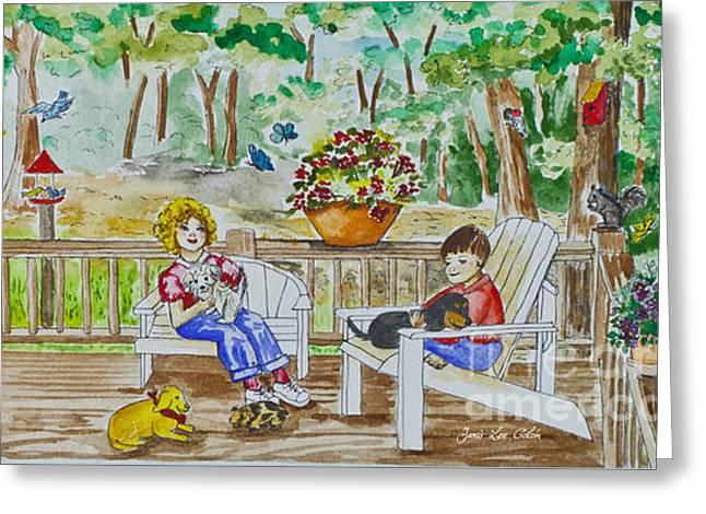 Back Porch Greeting Card