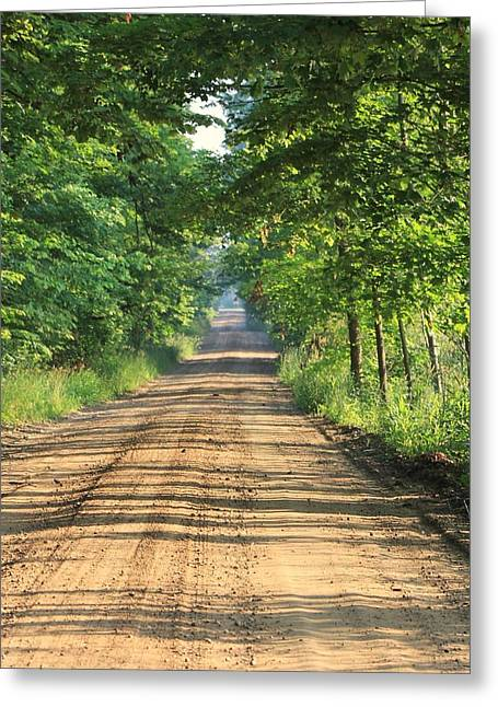 Back Road Morning Greeting Card