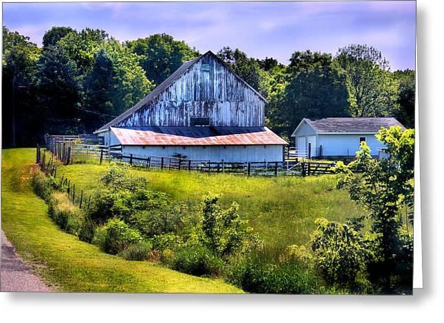 Back Roads Country Barn Greeting Card by Virginia Folkman