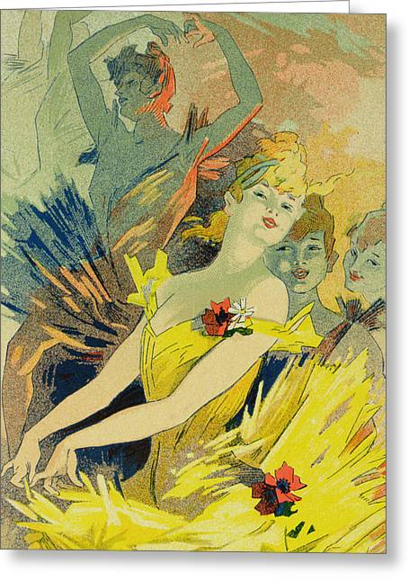 Back-stage At The Opera Greeting Card by Jules Cheret