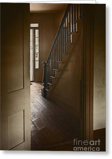 Back Stairway Greeting Card by Margie Hurwich