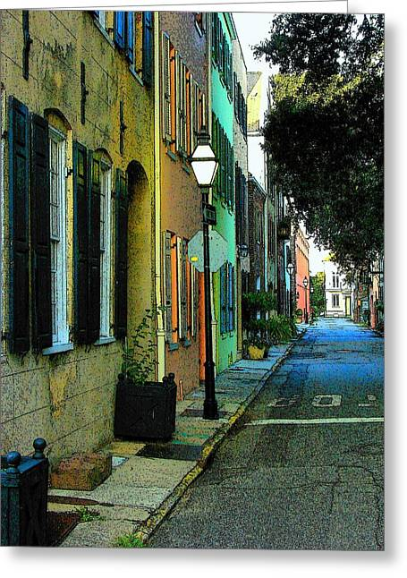 Greeting Card featuring the photograph Back Street In Charleston by Rodney Lee Williams