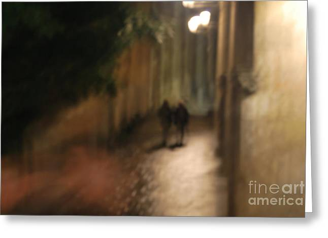 Back Street Of Barcelona Cathedral Greeting Card