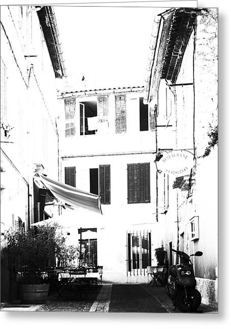 Back Streets Of A French Town - Vertical Greeting Card