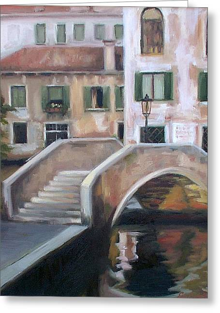 Back Streets Of Venice Greeting Card