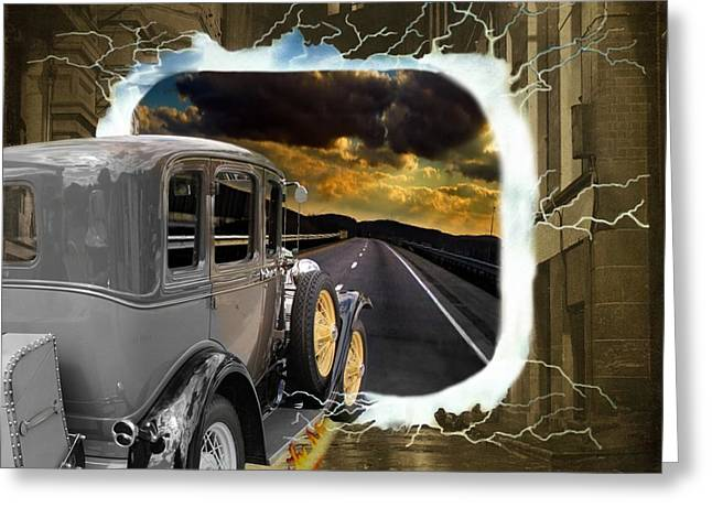 Back To The Future Greeting Card by Davandra Cribbie