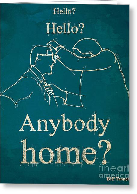 Back To The Future. Hello Hello Anybody Home... Greeting Card by Pablo Franchi