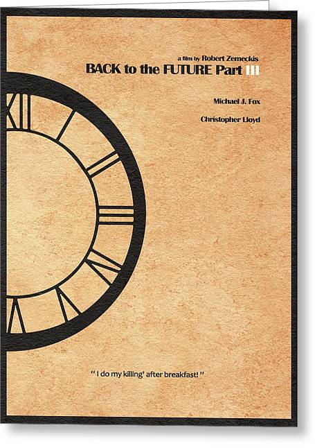Back To The Future Part IIi Greeting Card by Ayse Deniz