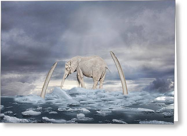 Greeting Card featuring the digital art Back To The Ice Age by Angel Jesus De la Fuente