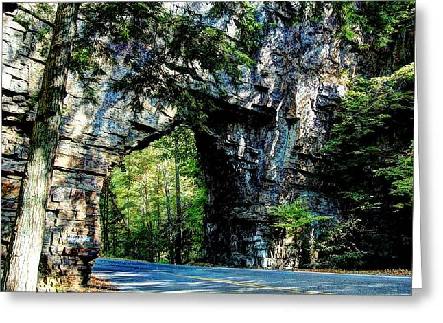 Backbone Rock Greeting Card by Heavens View Photography