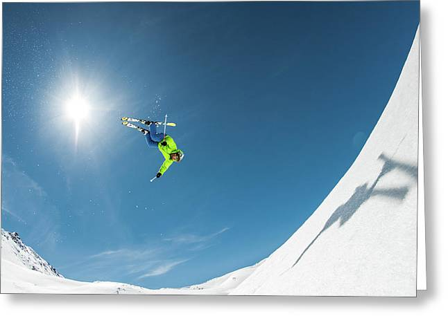 Backcountry Backflip Greeting Card