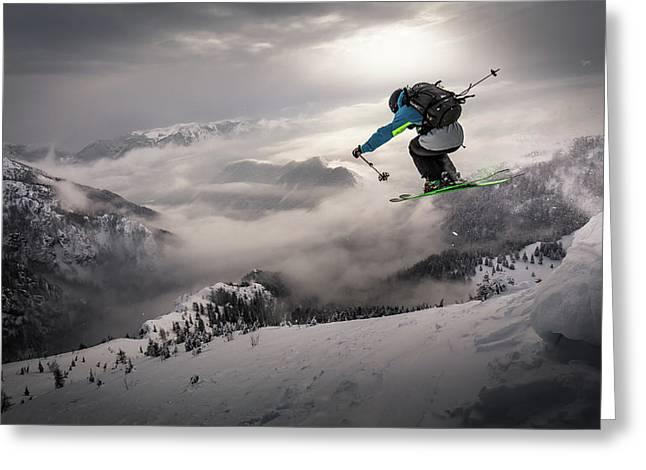 Backcountry Skiing Greeting Card