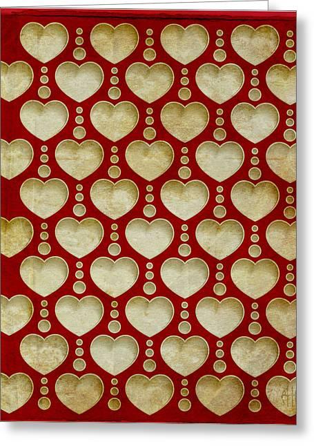 Background Heart  Greeting Card by Irina Effa
