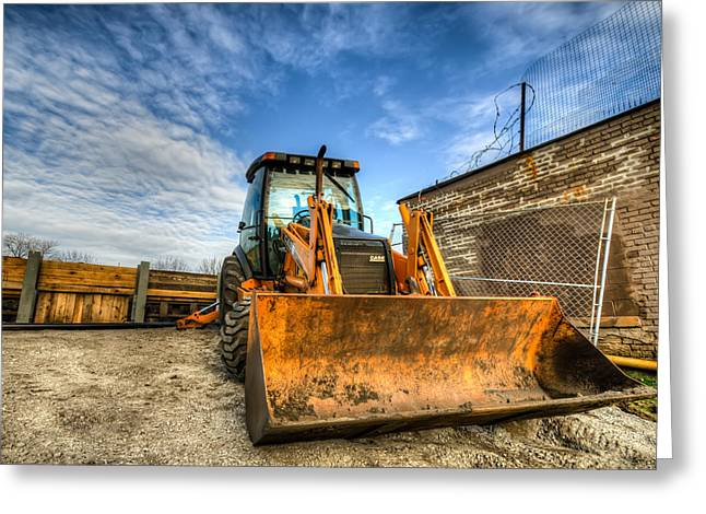 Backhoe Greeting Card by Anthony Doudt