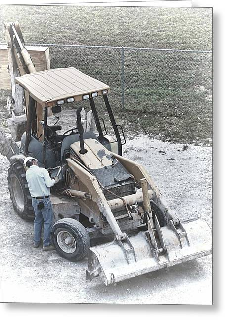 Backhoe  Greeting Card by Rudy Umans