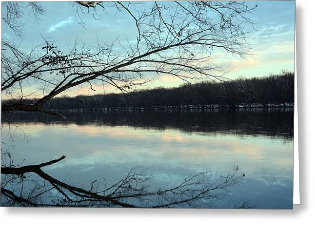 Backlit Skies On The Potomac River Greeting Card by Bill Helman