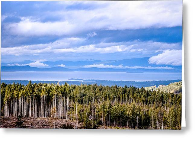 Johnstone Strait High Elevation View Greeting Card