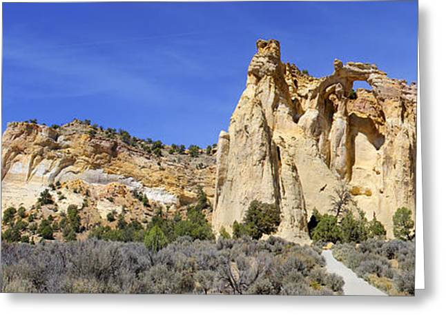 Backroads Utah Panoramic 2 Greeting Card by Mike McGlothlen