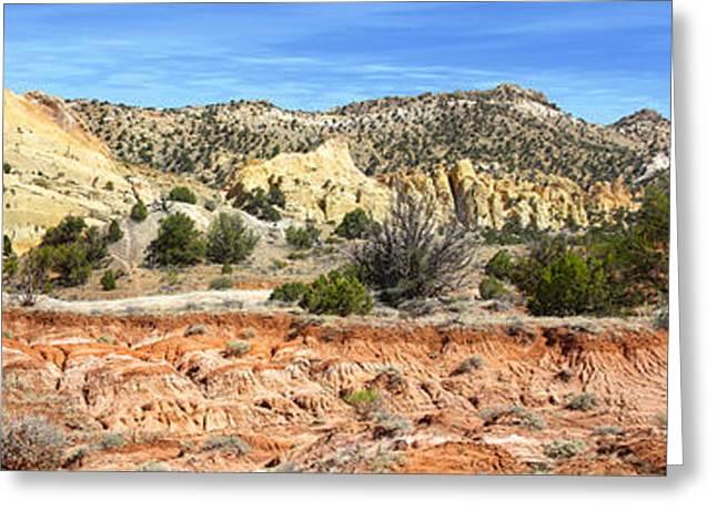 Backroads Utah Panoramic Greeting Card by Mike McGlothlen