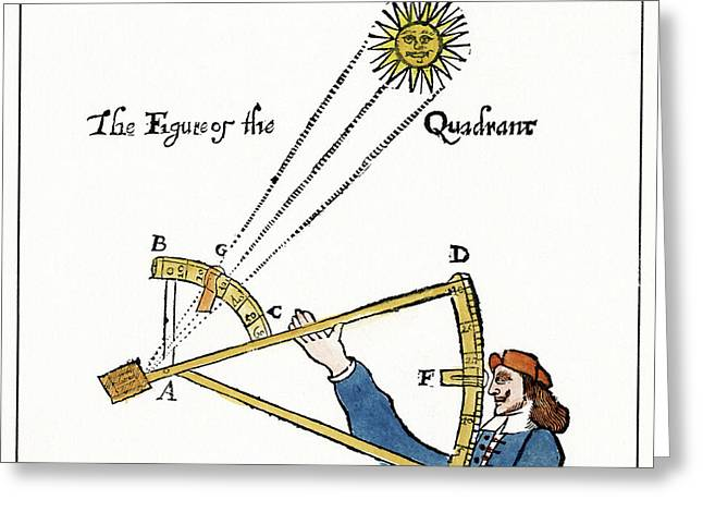 Backstaff, 1663 Greeting Card by Granger