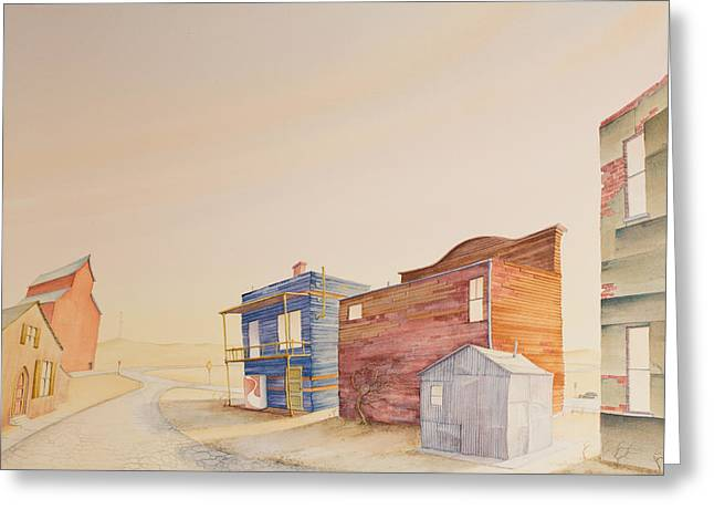 Backstreet Nebraska Greeting Card by Scott Kirby