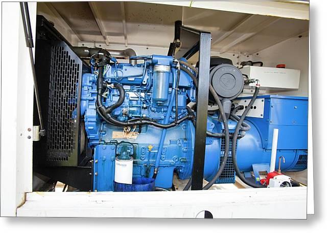 Backup Diesel Generators Greeting Card by Ashley Cooper