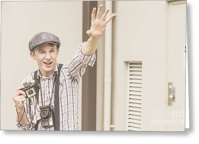 Backup Photo Journalist  Greeting Card by Jorgo Photography - Wall Art Gallery