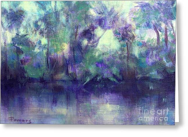 Backwater Greeting Card by Mary Lynne Powers