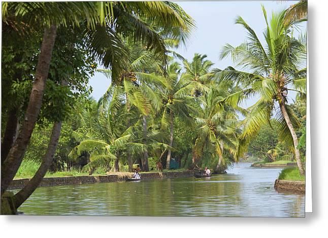 Backwaters Of Kerala, India Greeting Card by Keren Su