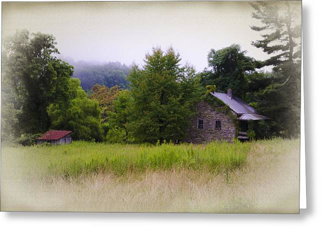 Backwoods Cabin Greeting Card by Bill Cannon