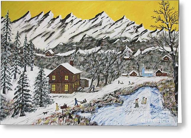 Backwoods Winter  Greeting Card