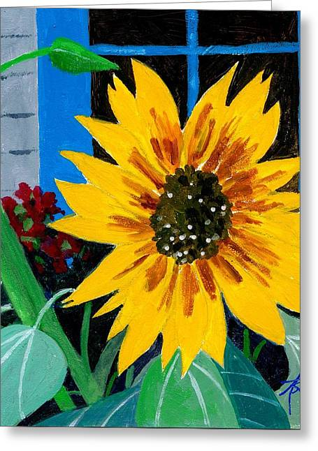 Backyard Flowers  Greeting Card