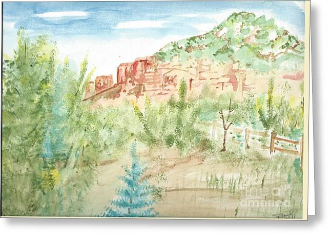 Backyard Sedona Greeting Card