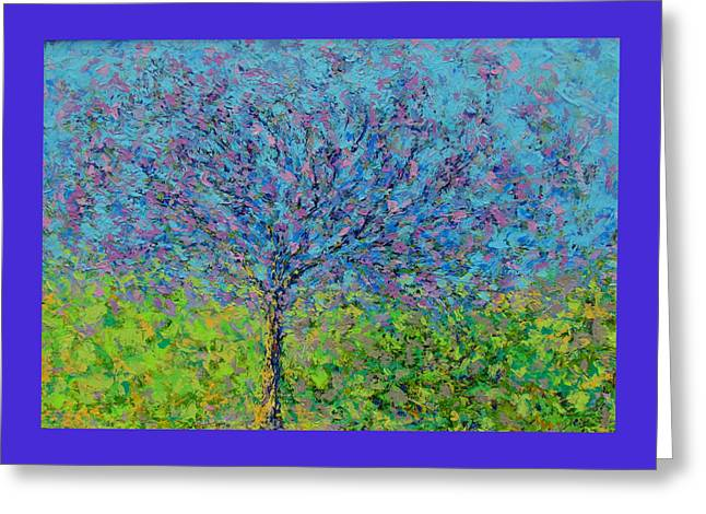 Purple Tree Greeting Card by Kat Griffin