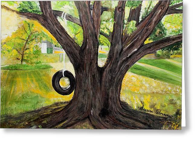 Backyard Tree Memories Greeting Card