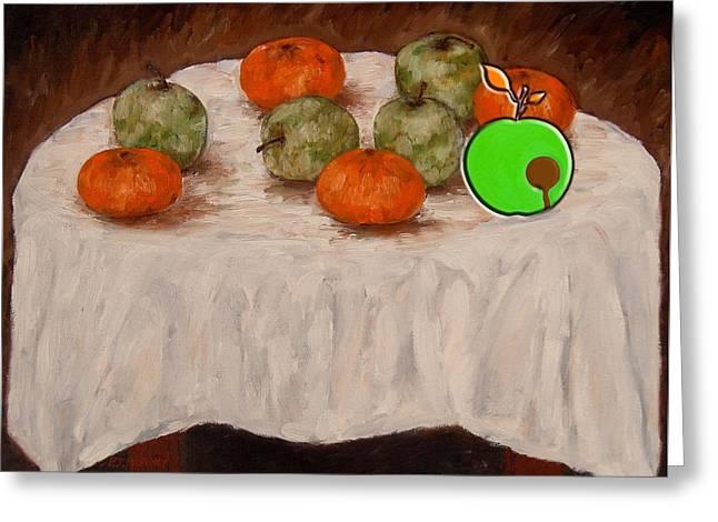 Bad Apple Greeting Card by Patrick J Murphy