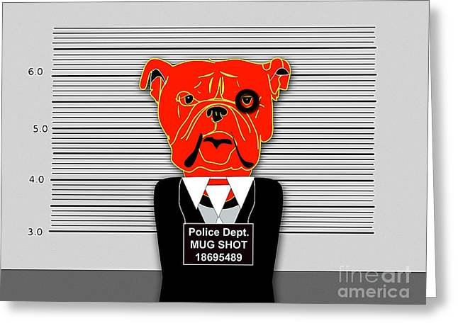 Bad Dog Greeting Card by Marvin Blaine