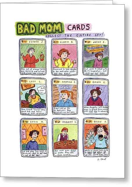 Bad Mom Cards Collect The Whole Set Greeting Card