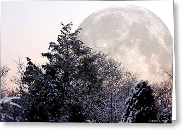 Bad Moon Risin' Greeting Card by Russell  King