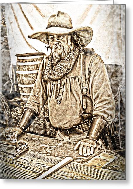 Bad Times Pilgrim Gotta Be Ready Greeting Card by Randall Branham