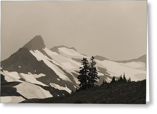Fog In Mountains Greeting Card