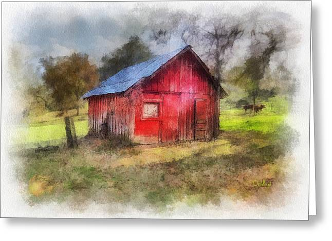 Badger Red Shed Greeting Card
