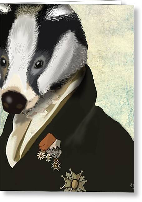 Badger The Hero Greeting Card by Kelly McLaughlan