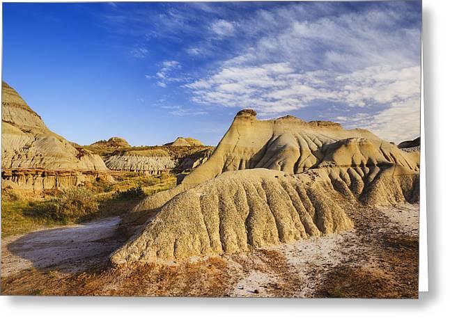 Badlands Landscape, Dinosaur Provincial Greeting Card