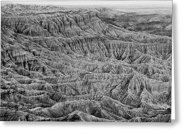 Badlands Of Great American Southwest - 3 Greeting Card
