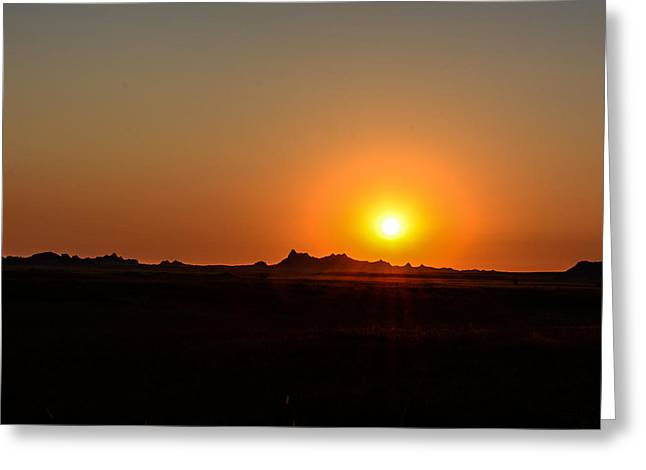 Badlands Sunrise Greeting Card by Robin Williams